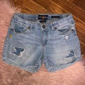 Lucky brand Riley jean shorts girls size 12